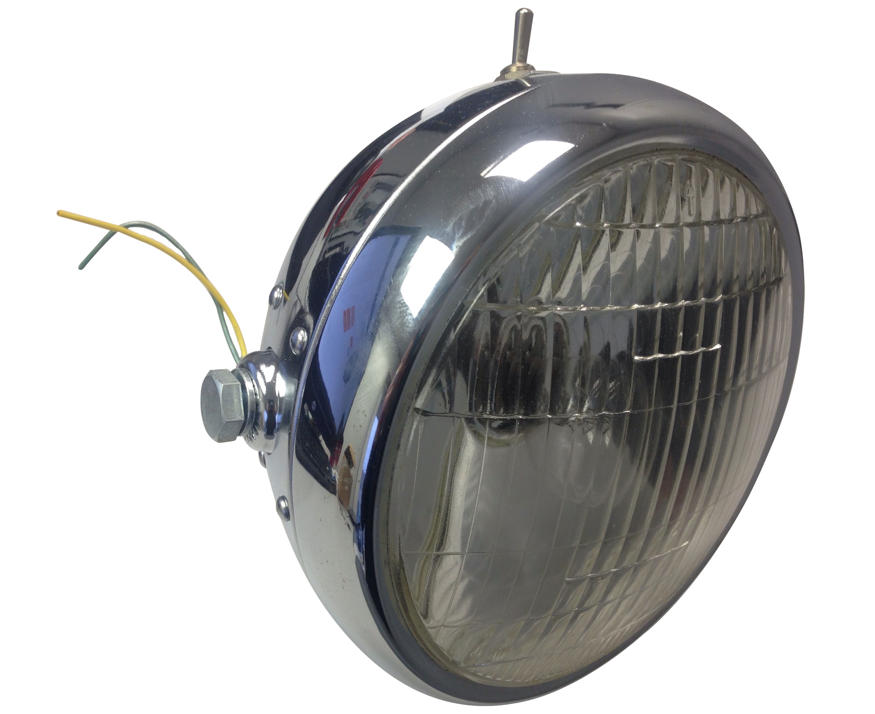 Chrome Motorcycle Headlight 6v With Switch Hl232ts Bmi Karts And