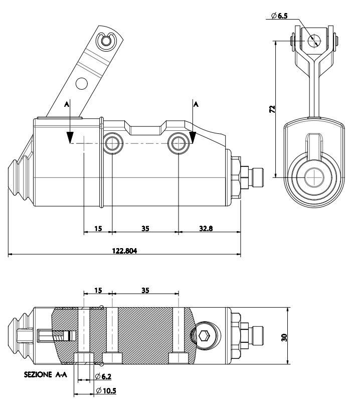 Kart Brake Brake Cylinder Master Brake Cylinder CIK FIA break pump pompe de Frein