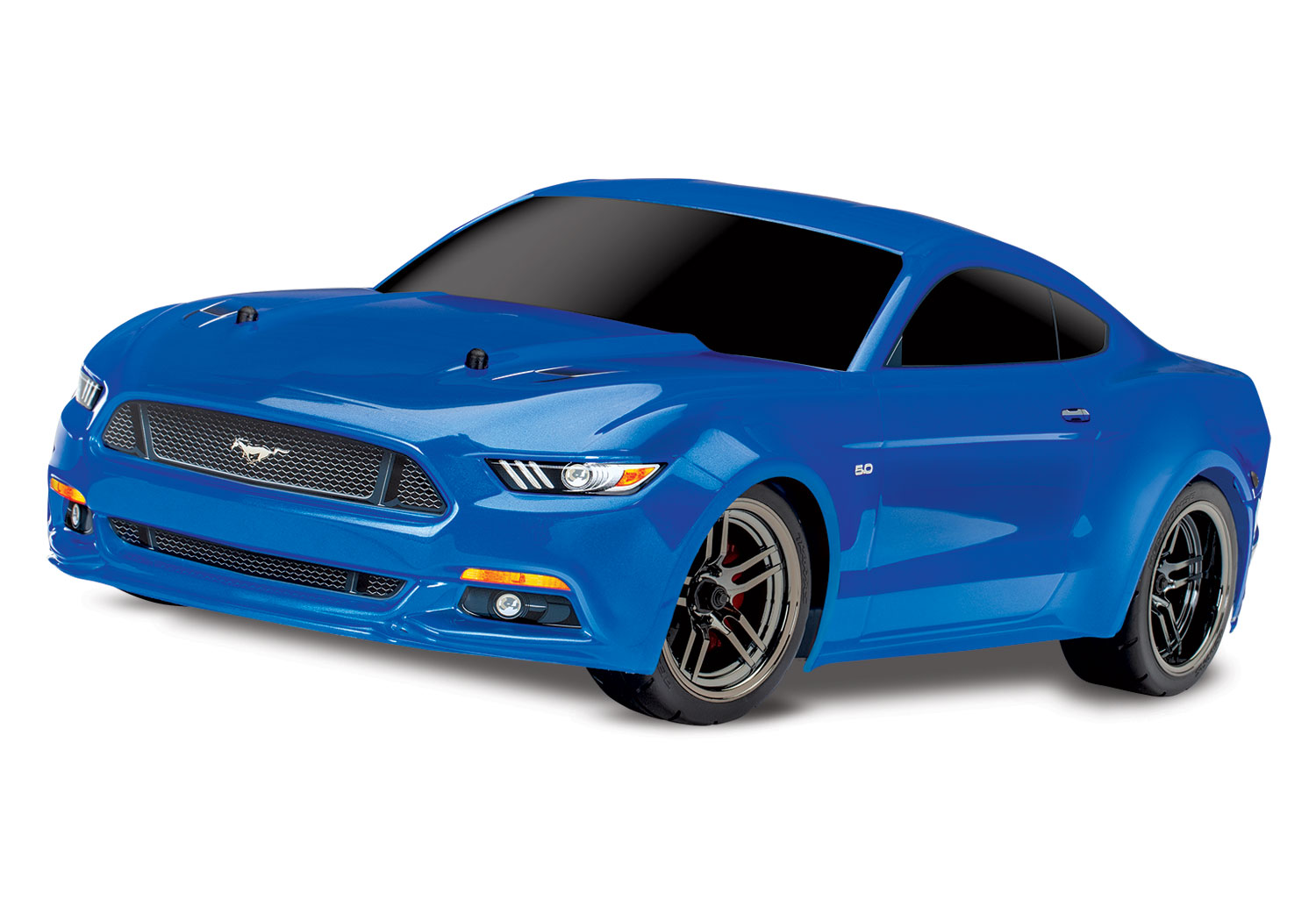 Traxxas ford mustang gt blue 1 10 scale awd on road battery charger not included