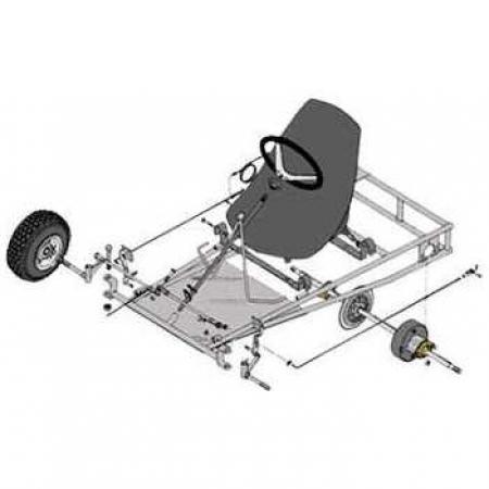 Azusa Go Kart Kit with 5\