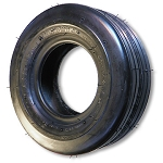 11 x 4.00-5 Ribbed Tire Flat Profile