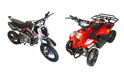Go Kart Mini Bikes, Dirt Bikes, and ATVs