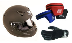 Racing Go Kart Helmets, Suits, and Apparel
