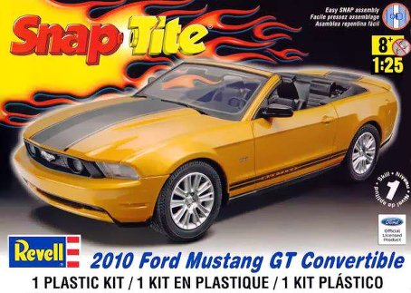 10 Ford Mustange Convertable (1/25 Scale) SnapTite Car from