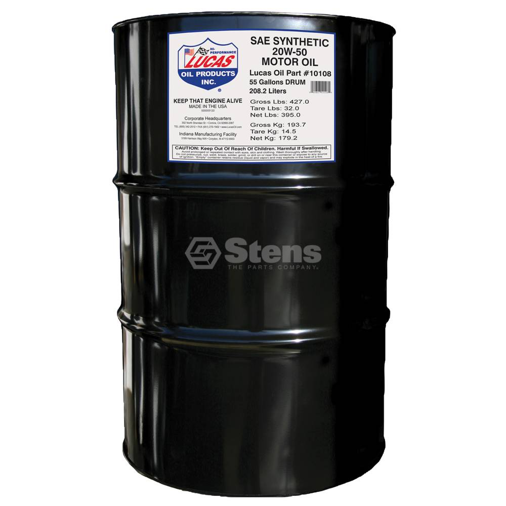 Synthetic Oil 20w 50 55 Gallon Drum 051 614 Bmi Karts And Parts