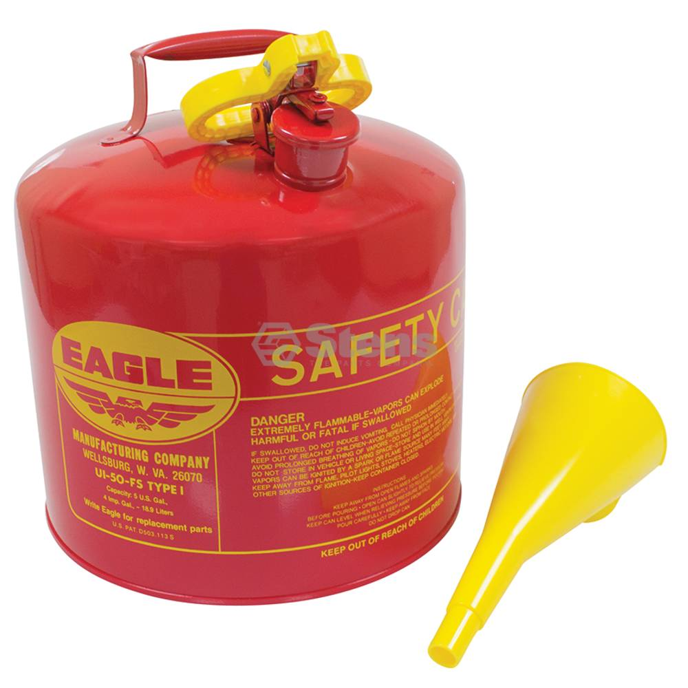 Metal Safety Fuel Can Eagle 5 Gallon