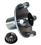 4 x4 Plated Steel Wheel Hub with Sealed Taper Roller Bearing - 5/8