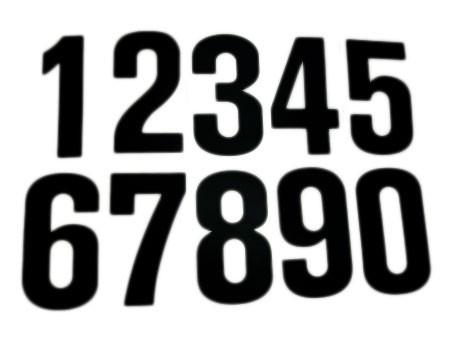 Vinyl number stickers 6