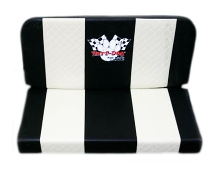 Double Vinyl Seat - Creme Stripes & Yerf-Dog Logo