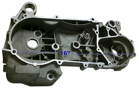 Left Crankcase for a GY6 150cc Engine