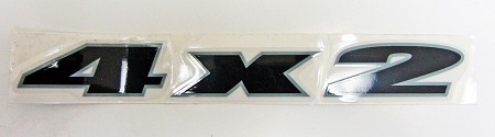 4 x 2 (Black) Decal / Sticker