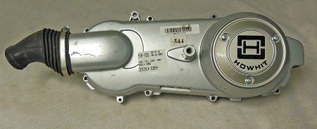 Left Crankcase Cover with Howhit Emblem for  150cc GY6 Engine (Short Type); Off Returned Kart