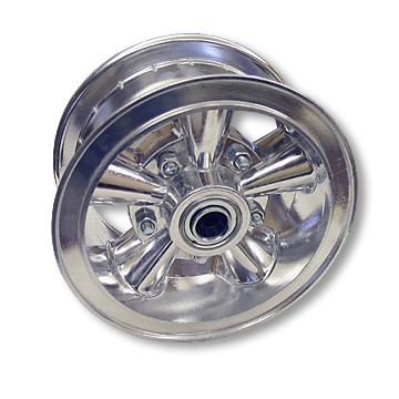 "6"" Astro Aluminum Wheel, 3"" wide, 3/4"" ID Bearing"