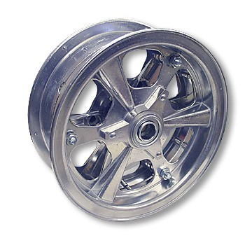"8"" Spinner Aluminum Wheel, 3"" wide, 3/4"" Bearing"