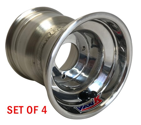 "5"" VanK Non-Machined Classic Kart Wheels - Set of 4"
