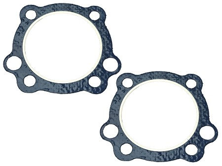 Set of Two: Cylinder Head Gasket with Fire Ring for Harley-Davidson 883 Sportster (1988 and Later)
