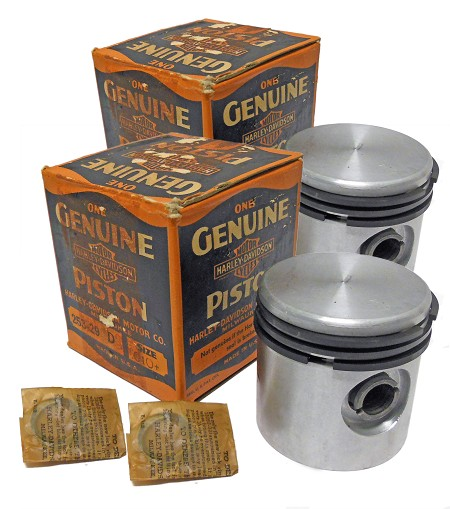 Genuine Harley-Davidson 253-29D +.010 Piston Set with Rings (2 Count)