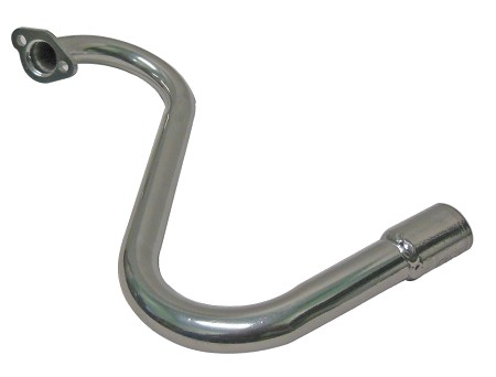 "Silver Ceramic Coated ""S"" Exhaust Header for Honda GX120 / GX160  or 5.5 - 6.5HP Clone Engine"
