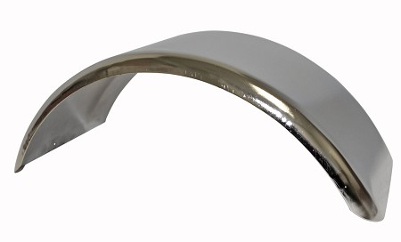 "Chrome Mini Bike Fender - 4.75"" Height"