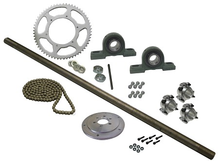 Drift Trike Axle Kit with Pillow Block Bearings (#40 Chain)