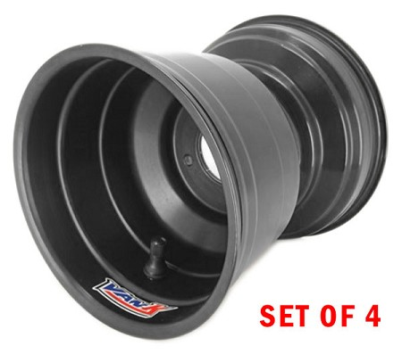 "5"" VanK Pro-Maxx Black Kart Wheels - Set of 4"