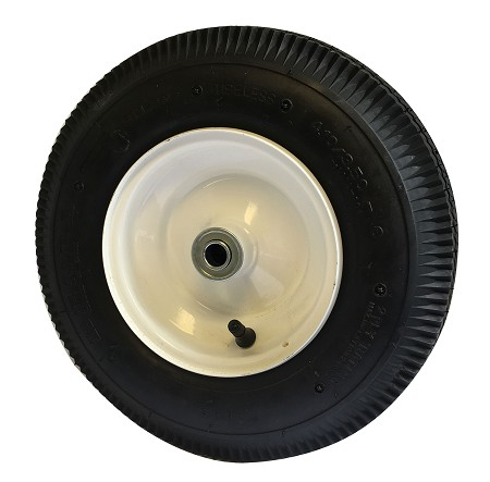 4.10/3.50-6 Sawtooth Tire with Rim / Offset Hub (Front)