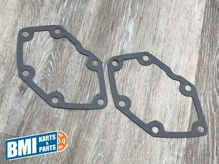 Set of Two; Right Side Gear Box Cover Gaskets for Harley-Davidson 5-Speed Big Twins (1980-86)