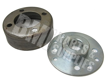 "4"" Brake Drum & Steel Mini Hub Kit (1"" Bore)"