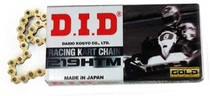 #219 D.I.D. Racing Chain - Gold on Black