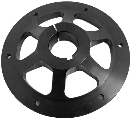 "Heavy Duty Aluminum Sprocket Hub (1-1/4"" Bore) - Black"