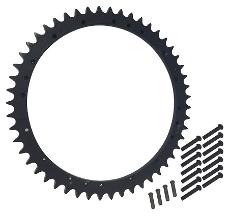 Rear Wheel Sprocket, 51T For Harley-Davidson Big Twins (1967-72)