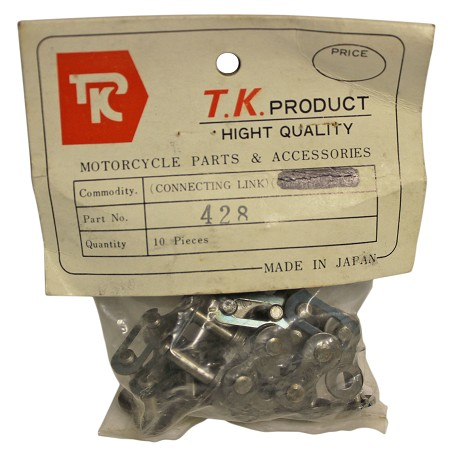 T.K. Connecting Link for #428 Chain - Pack of 10