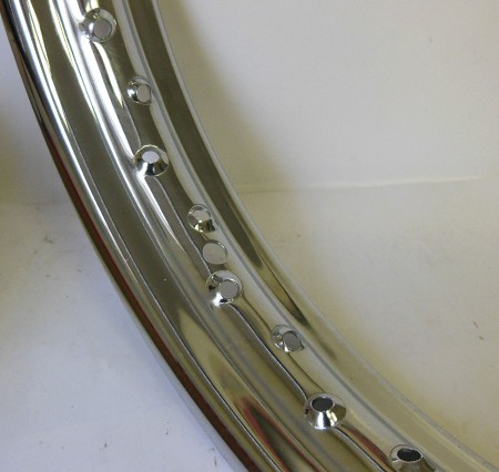 "18 x 2.15"" 40 Spoke Hole Chrome Rim for Harley-Davidson (1935+)"