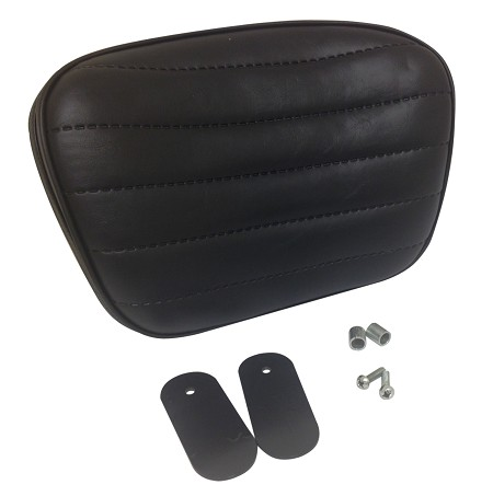 Backrest Seat Pad for Harley-Davidson Comfort Flex Seat (Black with Wide Stitch)