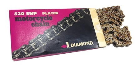 Diamond Motorcycle Chain-#530 106 Link Plated