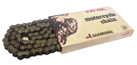 Diamond Motorcycle Chain - #530 XDL Duralube 112 Link