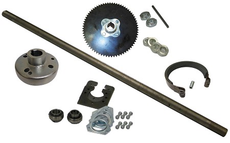 "1"" Live Go Kart Axle Kit"