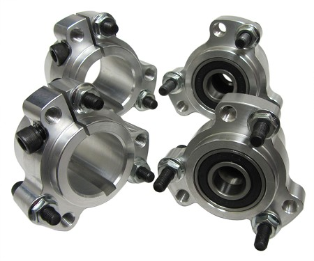"Lightened Aluminum Racing Wheel Hub Set (Front and 1"" Rear)"