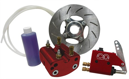 "1"" or 1 1/4"" Hydraulic Brake Kit - Red"