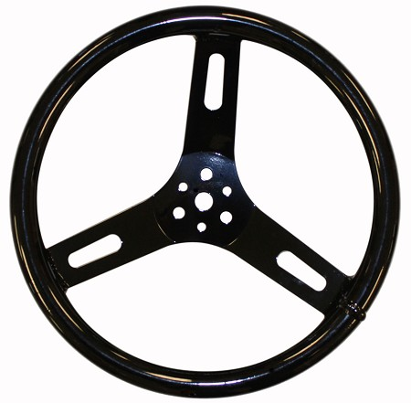 "12"" Round Aluminum Steering Wheel"