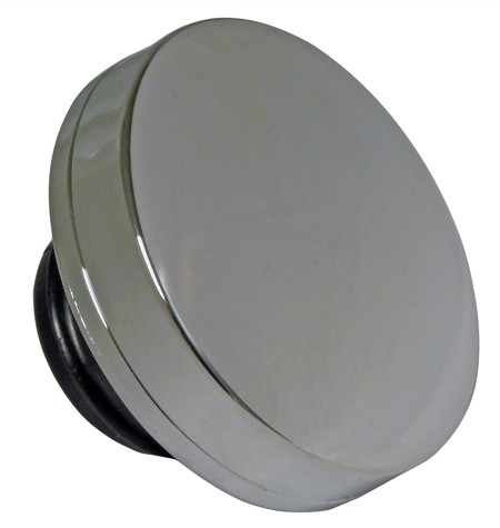 "Chrome ""Screw-In"" Gas Cap for Harley-Davidson Fat Bob Tank (1982 and Later)"