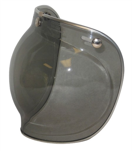 Helmet Face Shield (Bubble, 3-Snap, Alum. Edging)