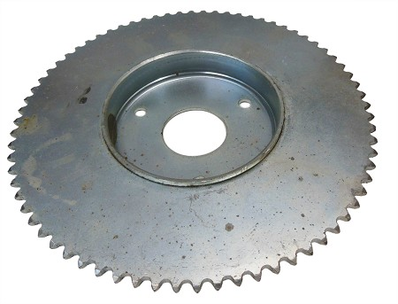 "Sprocket (72T) for #35 Chain with 4"" Brake Drum"