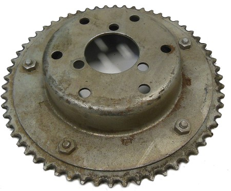 "Sprocket (60T) for #35 Chain with 4"" Brake Drum"
