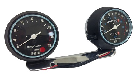 Genuine Harley-Davidson Tachometer and Speedometer for Sportster (1974-80)