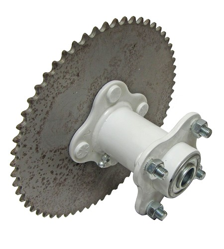 Double Flange Wheel Hub with 60T #35 Sprocket