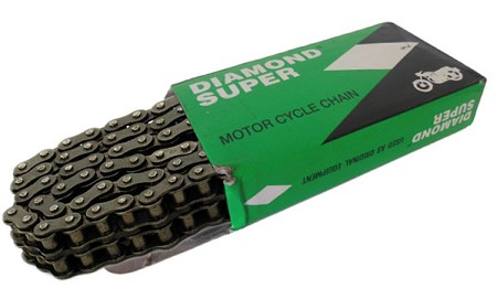 Diamond Super Motorcycle Chain - #428 82 Link (Double Row)