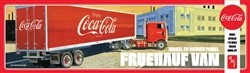 AMT Fruehauf Beaded Van Semi Trailer (Coca-Cola) 1:25 Scale Model Kit