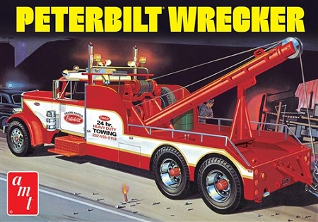 AMT Peterbilt 359 Wrecker 1:25 Scale Model Kit