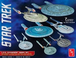 AMT Star Trek U.S.S. Enterprise Box Set - 1:2500 Scale Snap Model Kits